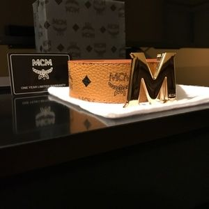 MCM Belt Tan Color